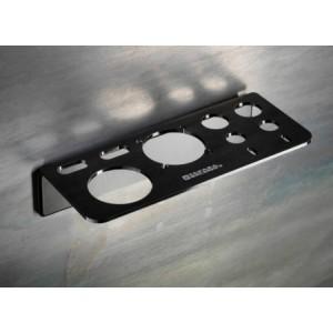 """Takara Belmont Metal Line Option """" Mensola In Termo Formato Magnetico Colore Nero Porta Phon E Spazzole """""""