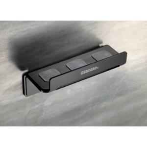 """Takara Belmont Metal Line Option """" Mensola In Termo Formato Magnetico Colore Nero Porta Tosatrici """""""